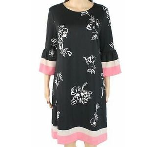 Alfani Sheath scuba color-block dress